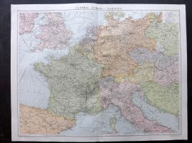 Gross 1920 Large Map. Central Europe - Railways